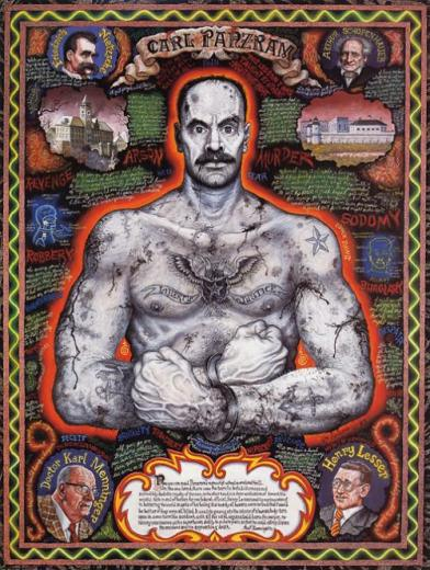 'Portrait of Carl Panzram' by Joe Coleman