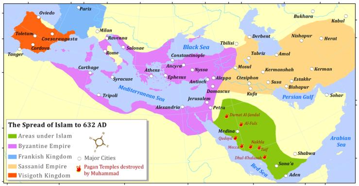 Islam: 632 CE